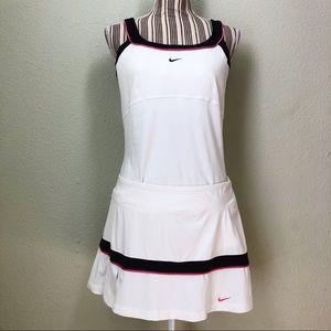 Nike Dri-Fit Tank & Tennis Skirt White Set L